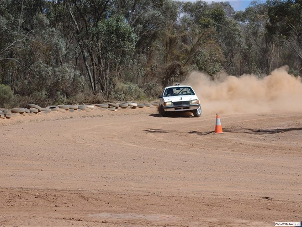 Dale Jackson at Bagshot Autocross in Bendigo