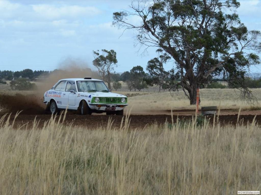 Brian & Zac Newton at Kyneton Autocross in Kyneton