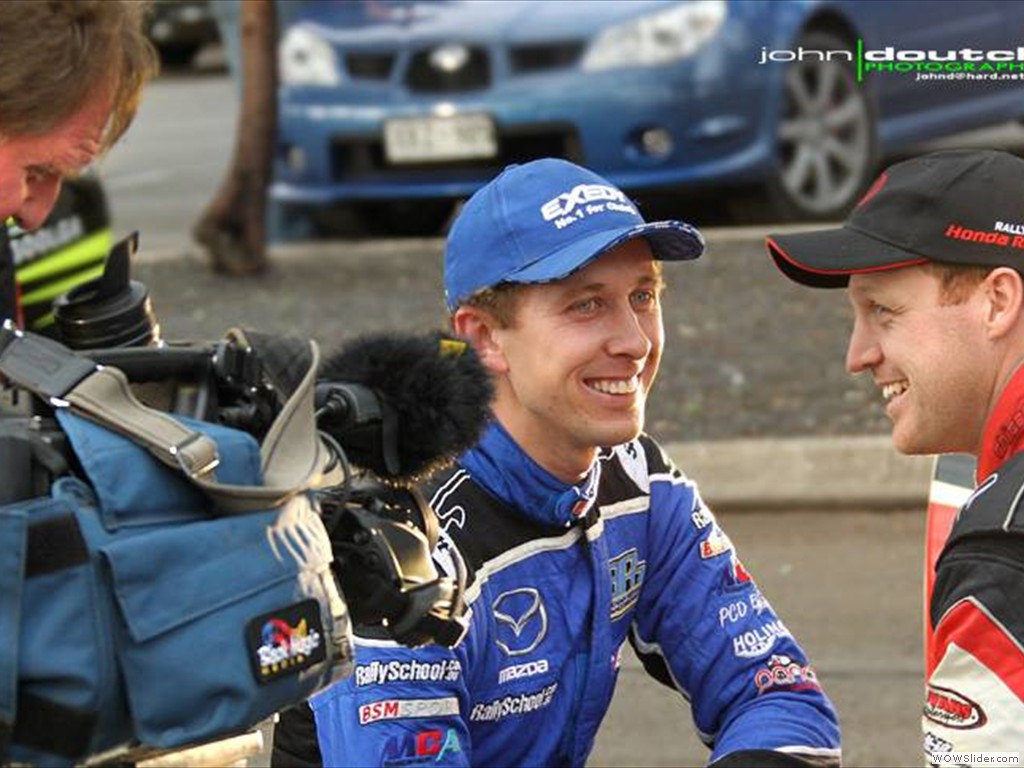 Brendan Reeves with Eli Evans